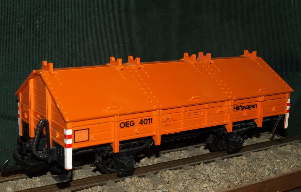LGB 4011 Klappdeckelwaggon, orange