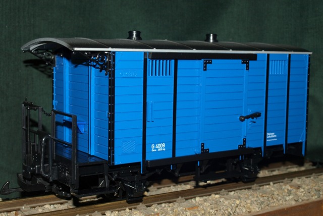 Stainzer Güterwaggon, blau