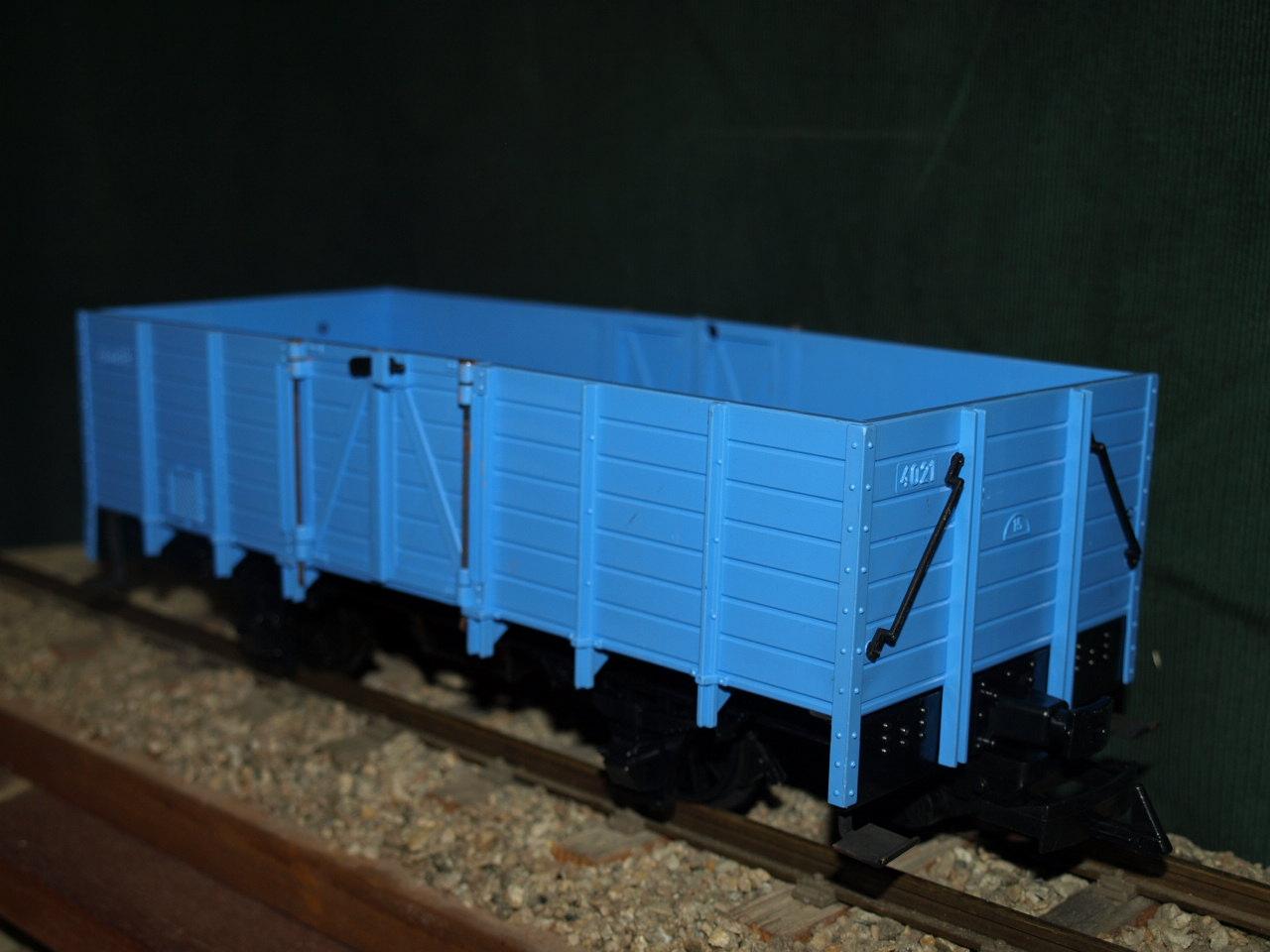 Hochbordwaggon, blau